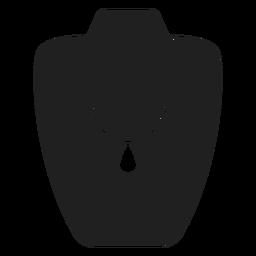 Ícone de colar de comprimento matinê