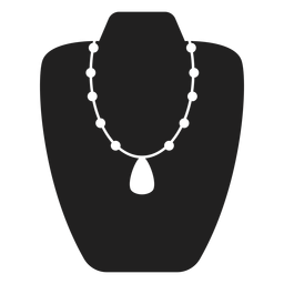 Matinee length necklace icon