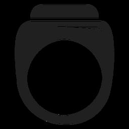 Icono de anillo negro para hombre.