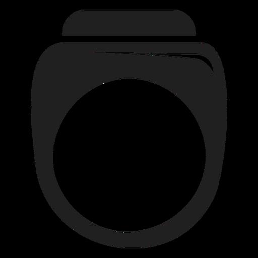 Men's ring black icon Transparent PNG