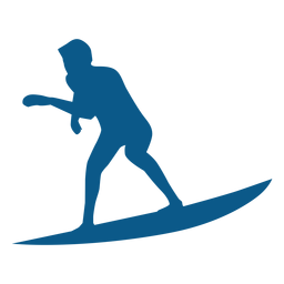 Homens surfista preto ícone