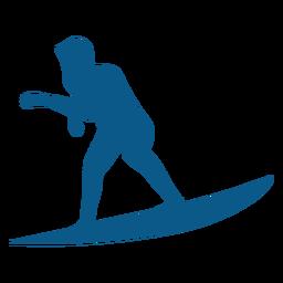 Männer Surfer schwarze Ikone