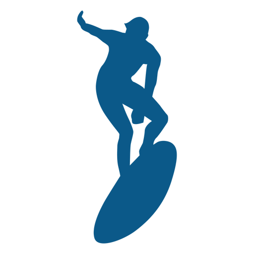Men surfing silhoutte Transparent PNG