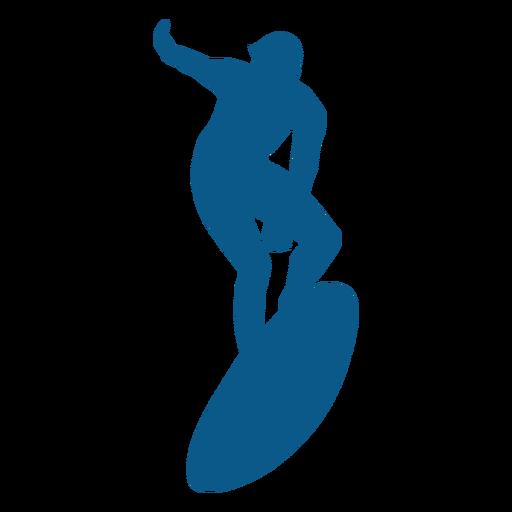Men surfing silhoutte