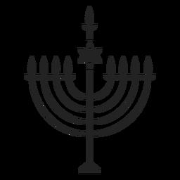 Icono de menorá de hanukkah