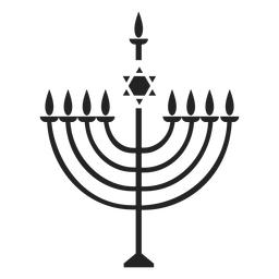 Menorah hanukkah icon