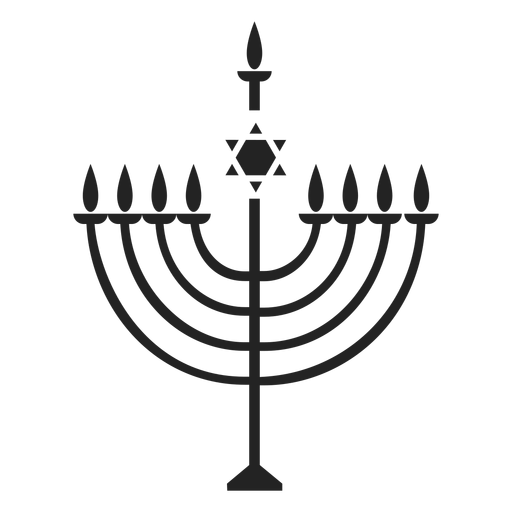 Menorah hanukkah icon Transparent PNG