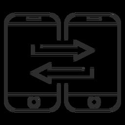 Icono de transferencia de datos móviles