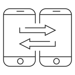 Mobile data transfer icon