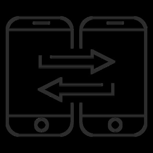 Ícone de transferência de dados móveis Transparent PNG