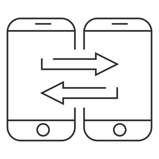 Mobile data transfer icon Transparent PNG