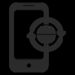Icono de actualización global móvil