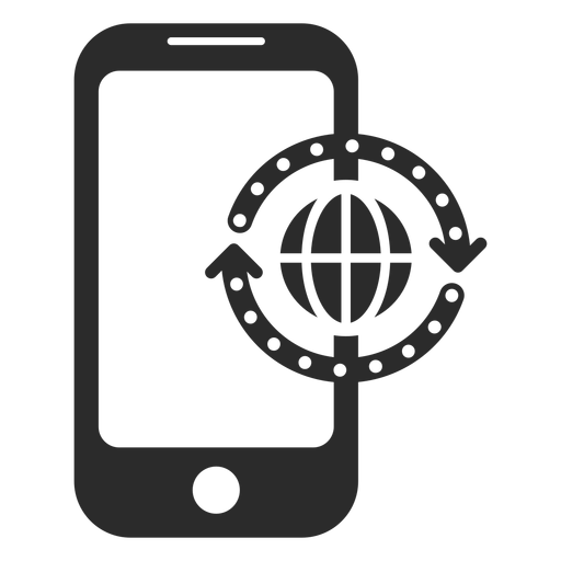 Mobile global refresh icon Transparent PNG