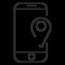 Ícone de gps para dispositivos móveis