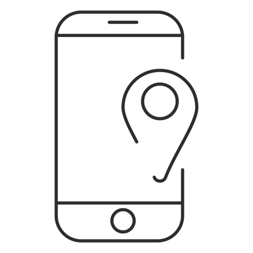 Mobile gps icon Transparent PNG