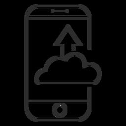 Icono de carga de internet móvil