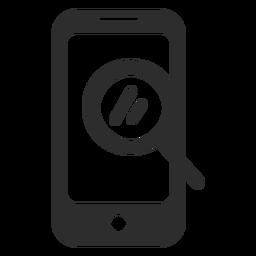 Icono de búsqueda de búsqueda móvil