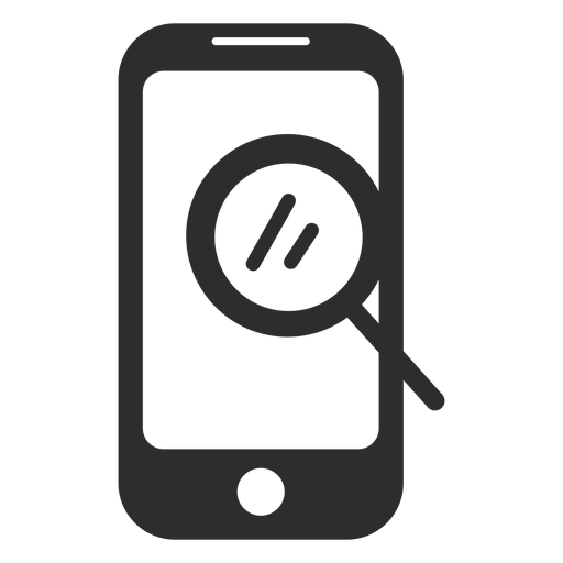Mobile lookup search icon Transparent PNG