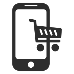 Ícone de compras on-line móvel