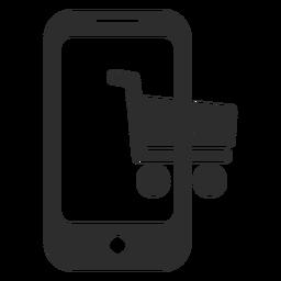 Icono de compra en línea móvil