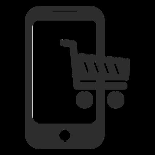 Ícone de compras on-line móvel Transparent PNG