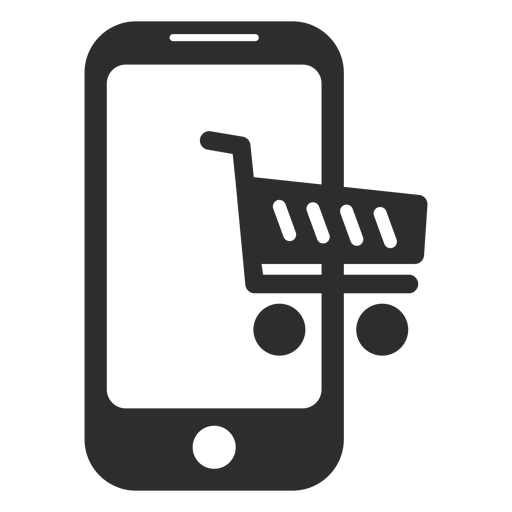 Mobile online shopping icon