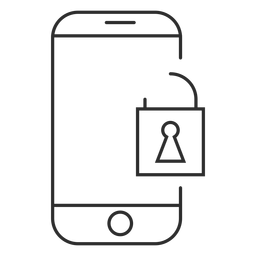 Ícone de senha para celular