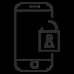 Icono de contraseña móvil