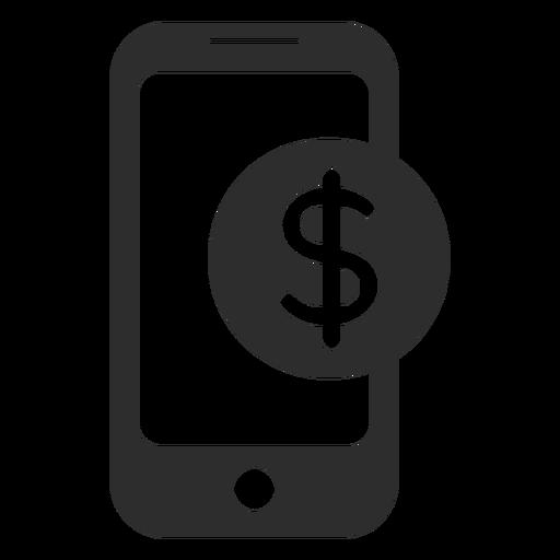 Ícone de pagamento móvel preto e branco Transparent PNG
