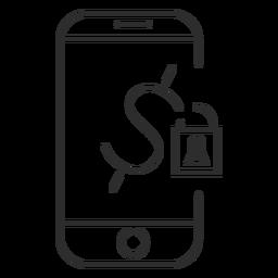 Ícone de senha de pagamento móvel