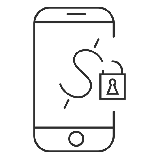 Mobile payment password icon Transparent PNG