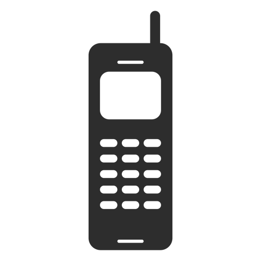Mobile phone with antenna icon Transparent PNG