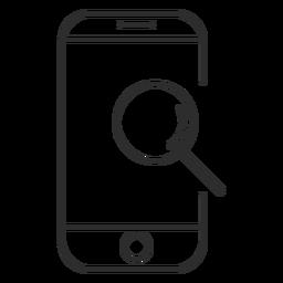 Icono de búsqueda móvil