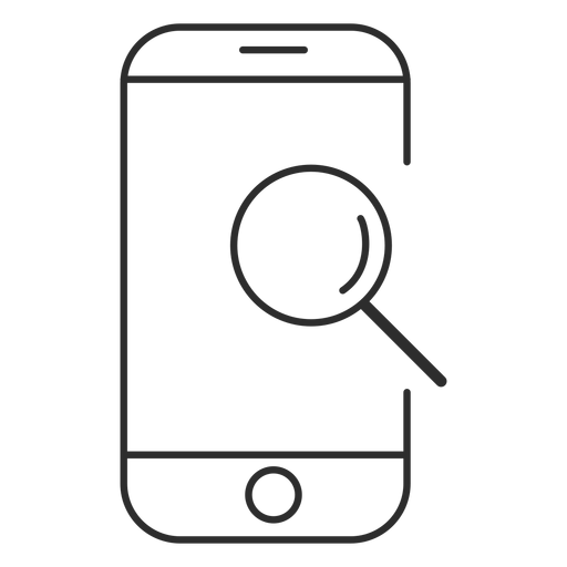 Mobile search icon Transparent PNG