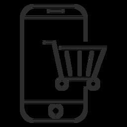 Symbol für mobiles Einkaufen