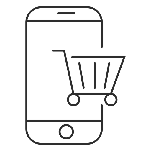 Mobile shopping icon Transparent PNG