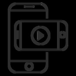 Icono de aplicación de video móvil