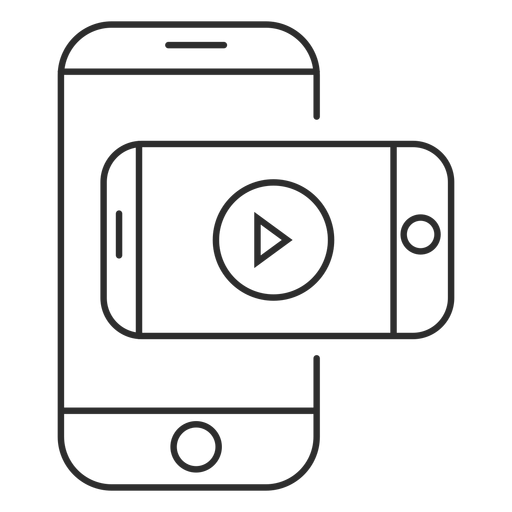 Mobile video application icon Transparent PNG