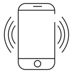 Icono de conexión wifi móvil