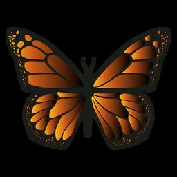 Borboleta de ícone de borboleta monarca