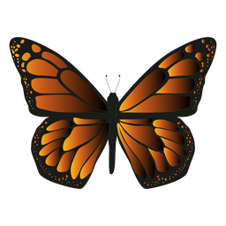 Monarch butterfly icon butterfly