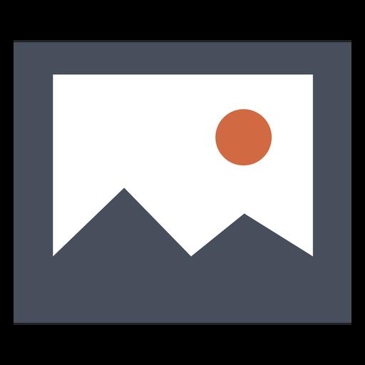 Ícone quadrado da montanha Transparent PNG