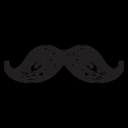 Icono dibujado a mano bigote
