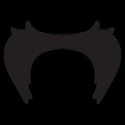 Bigode mark ícone de estilo de dois