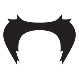 Icono de estilo twain marca bigote