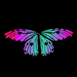 Mehrfarbiger Schmetterlingsentwurf