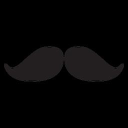 Icono de bigote natural negro