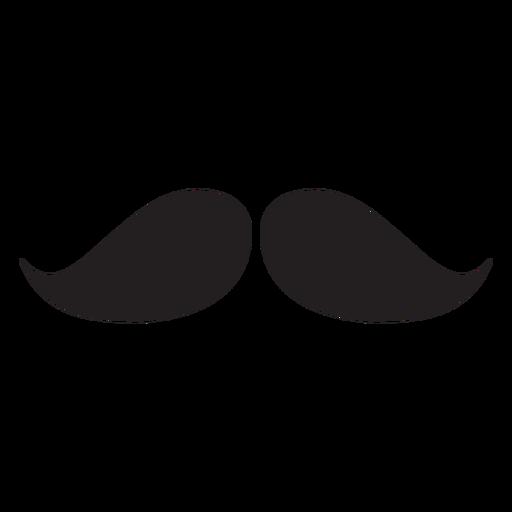 Natural moustache black icon