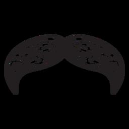 Icono dibujado mano bigote natural