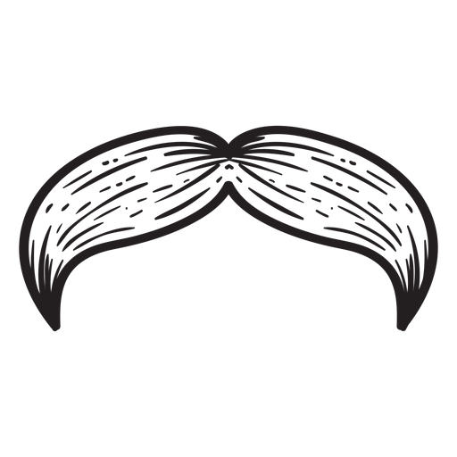 Natural moustache hand drawn icon Transparent PNG